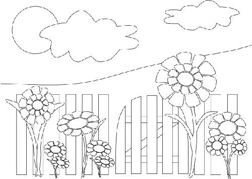 Jardín  15 (naturaleza) – Páginas Para Colorear
