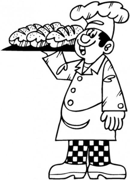 Panadero  5 (ocupaciones) – Páginas Para Colorear