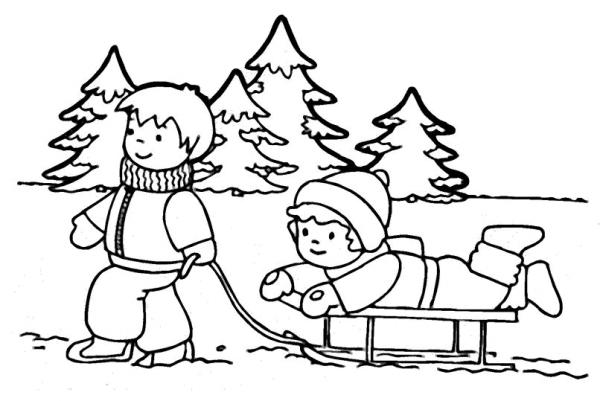 Temporada De Invierno  34 (naturaleza) – Páginas Para Colorear
