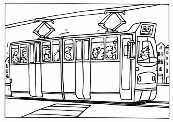 Tramway  3 (transporte) – Páginas Para Colorear