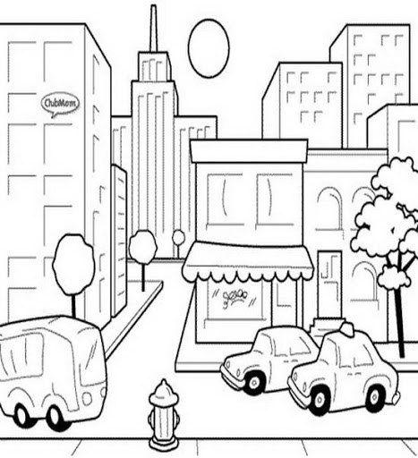 Paisaje Urbano Para Colorear Imagui