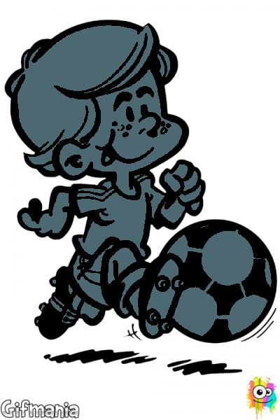 Niño Jugando Al Fútbol  Niño  Futbol  Dibujo