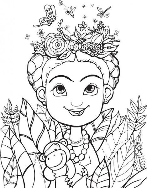 Resultado De Imagen Para Frida Para Colorear