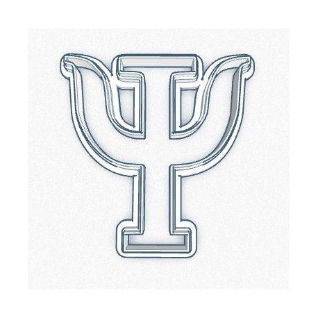 Cortador Simbolo Psicologia 7cm
