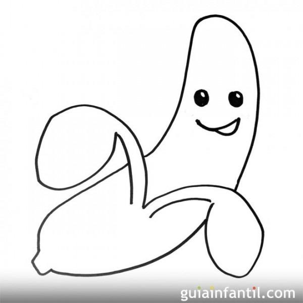 Imagen De Un Plátano  Dibujos Para Colorear Con Niños