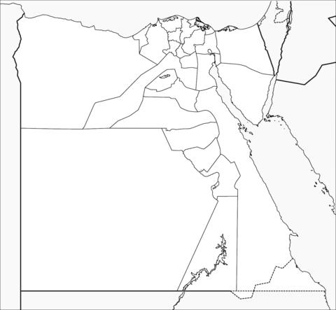 Mapa Del Antiguo Egipto Para Colorear