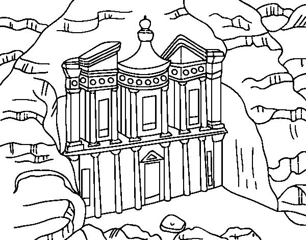 Dibujo De El Tesoro De Petra Para Colorear
