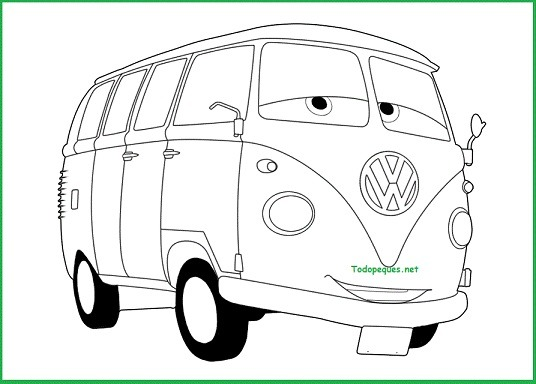 Dibujos Para Colorear Personajes De Cars