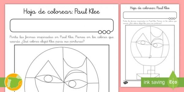 Hoja De Colorear  Paul Klee