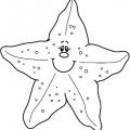 Estrella De Mar Para Colorear