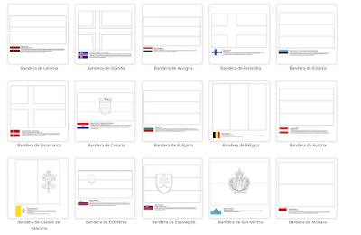 Escuela Infantil Castillo De Blanca  Colorear Banderas Del Mundo