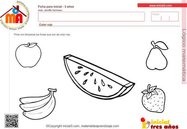 Actividad A Realizar  Pinta Con Témperas Las Frutas Que Son De