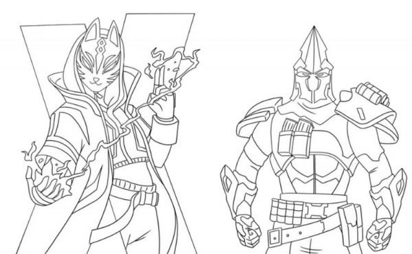 Dibujo Para Colorear Fortnite   Temporada 10 Catalyst Y Ultima
