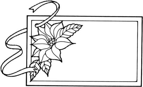 Dibujo De Marco Con Flor Para Colorear