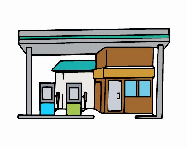 Dibujo De Gasolinera Pintado Por En Dibujos Net El Día 01