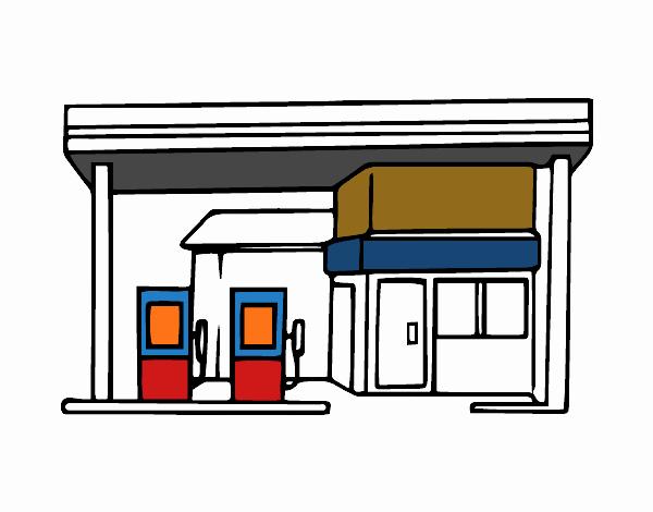 Dibujo De Gasolinera Pintado Por En Dibujos Net El Día 25
