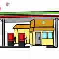 Dibujos De Gasolineras Para Colorear