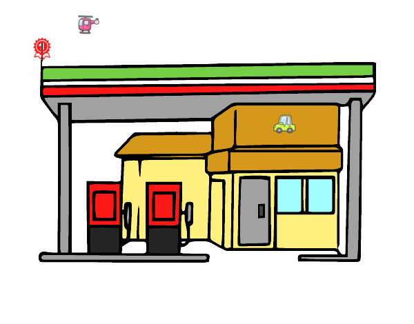 Dibujo De Gasolinera Pintado Por En Dibujos Net El Día 02