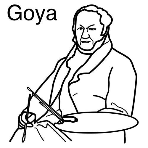 Goya Para Aprender Y Colorear