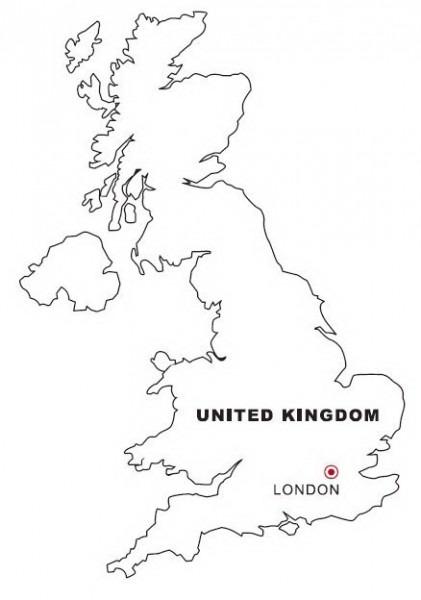 Mapa De Inglaterra Para Colorear