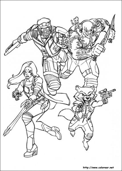 Dibujos Para Colorear De Guardianes De La Galaxia