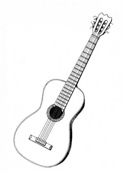 Imágenes De Guitarras Para Colorear