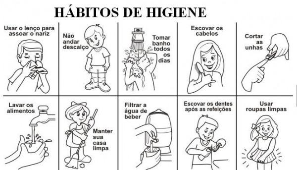 Habitos De Higiene Para Niños Imagen Para Colorear