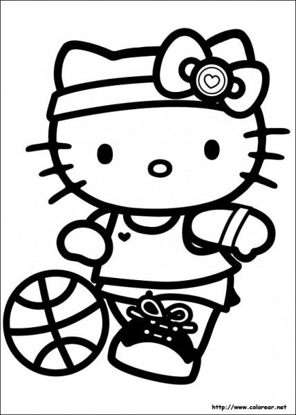 Dibujos De Hello Kitty Para Colorear En Colorear Net