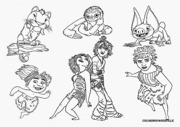 Dibujos Para Colorear  Maestra De Infantil Y Primaria   Los Croods