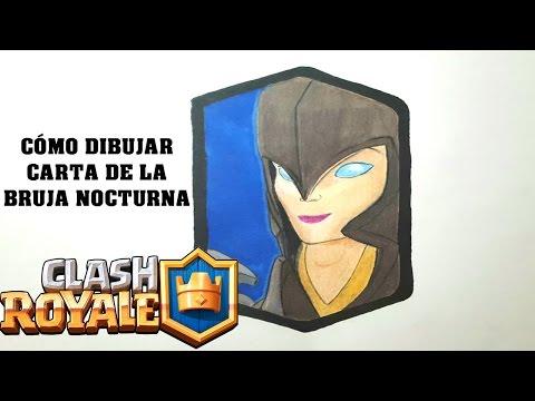 Cómo Dibujar Carta De La Bruja Nocturna De Clash Royale