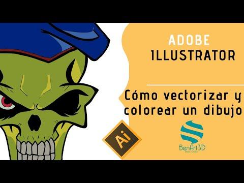 👁️  🗨️ Como Vectorizar Y Colorear Un Dibujo En Illustrator