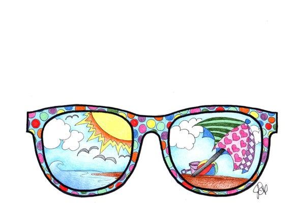 Gafas De Sol Para Colorear Página