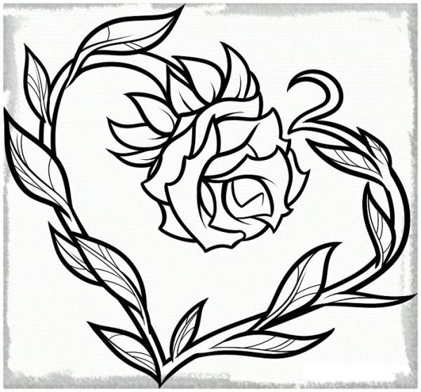 Imágenes De Rosas Para Dibujar