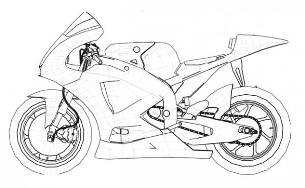 Dibujos Para Colorear Moto Gp
