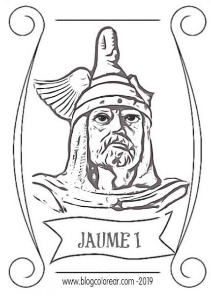 Careta Y Cimera Del Rey Jaime I Para Imprimir