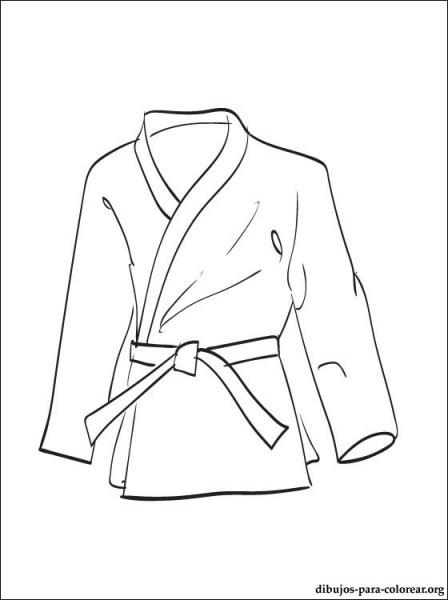 Kimono Dibujo Para Colorear E Imprimir