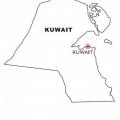 Bandera De Kuwait Para Colorear