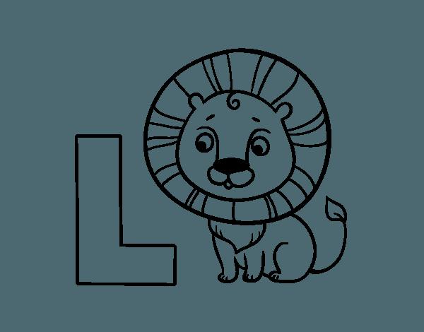Dibujo De L De León Para Colorear