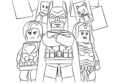 Dibujo De Superhéroes De Lego Para Colorear