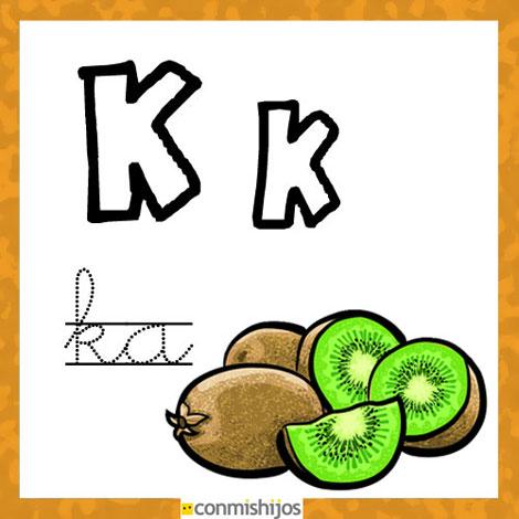 Fichas Para Aprender Las Letras Y Colorear  Letra K
