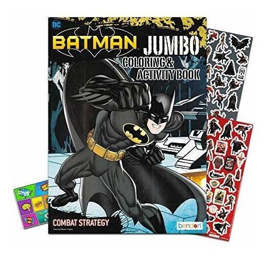 Liga De La Justicia Batman Libro Para Colorear Bundle Con Ba
