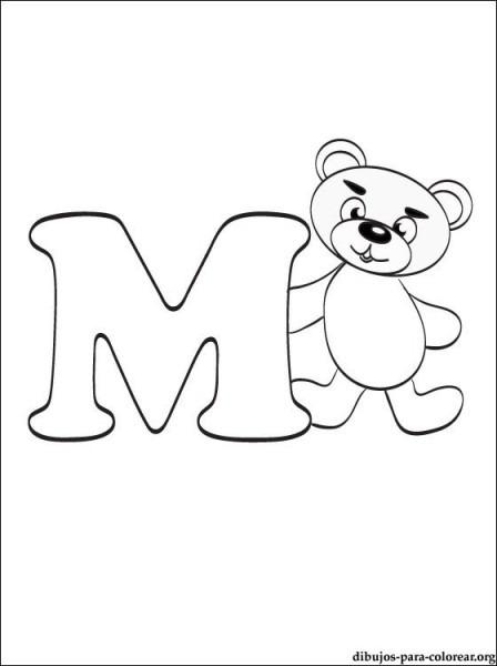 Dibujo De Letra M  Dibujos De Letras Para Imprimir