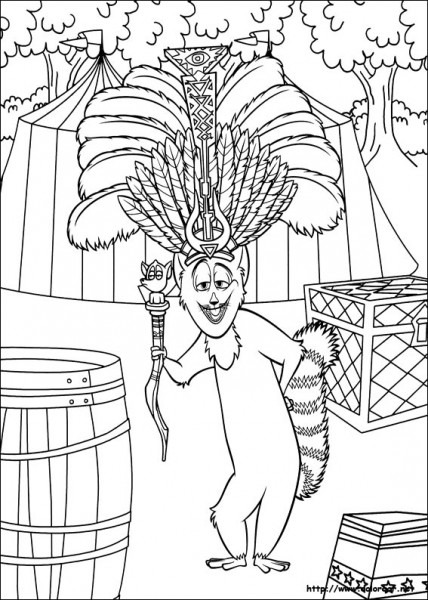 Dibujos Para Colorear De Madagascar 3
