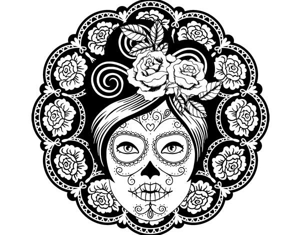 20 Mandalas De Calaveras Para Colorear E Imprimir【2019】