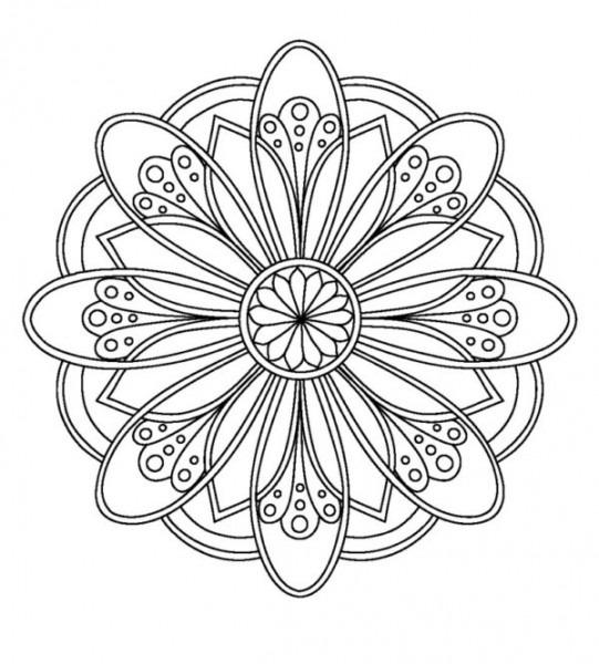 80 Mandalas De Flores Para Colorear Y Dibujar 【2019】