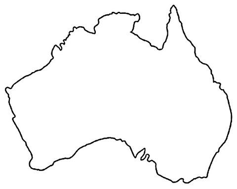 Dibujo De Mapa De Australia Para Colorear
