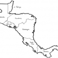 Mapa Centroamerica Para Colorear