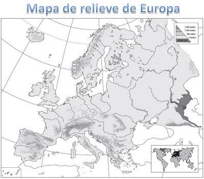 Mapa De Relieve De Europa Para Imprimir   Fichas Para NiÑos