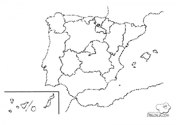 Mapa Político España Ccaa