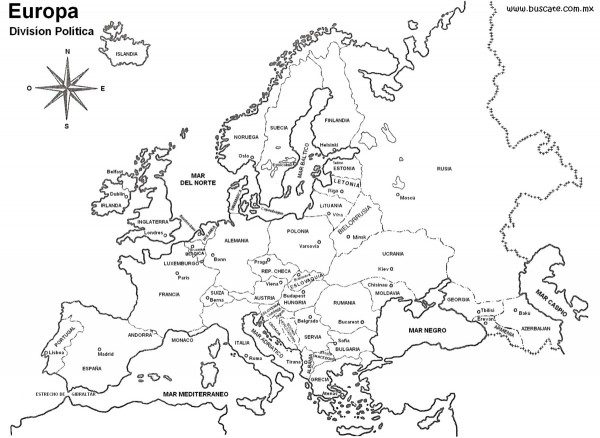 Mapas De Europa Para Descargar Y Colorear